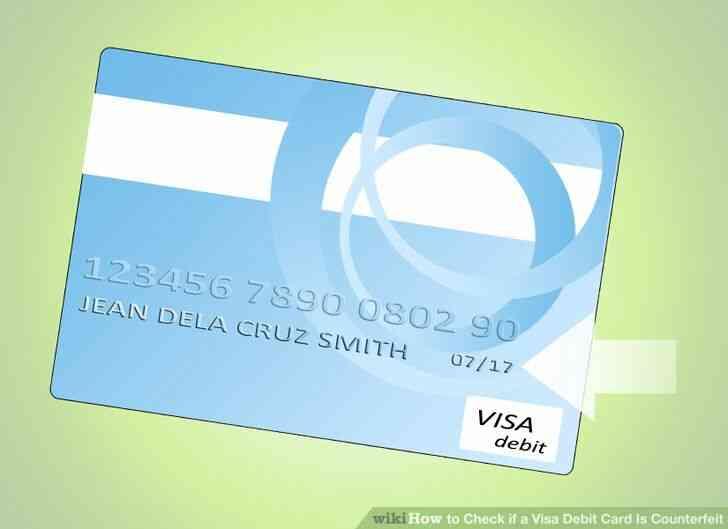 Imagen titulada Comprobar si una Tarjeta de Débito Visa Es la Falsificación de Paso de 3