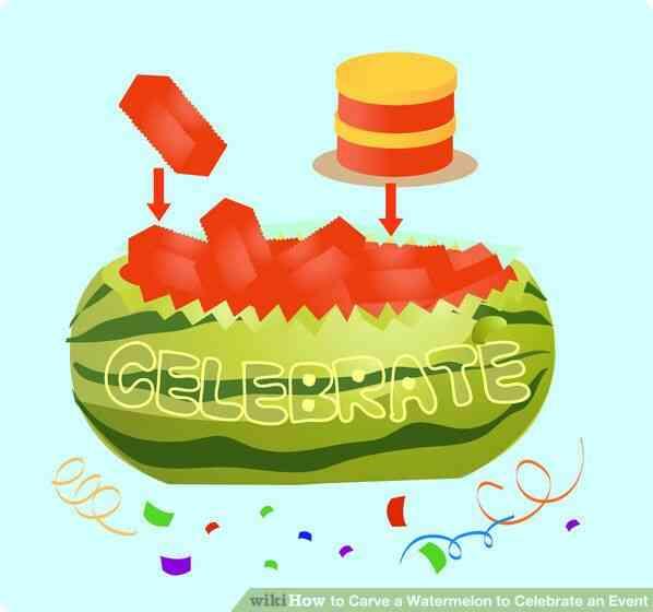 Imagen titulada Llenar la cesta con la mezcla de frutas y coloque el pastel (en un pequeño plato o plato de estabilidad) en la parte superior del Paso 6