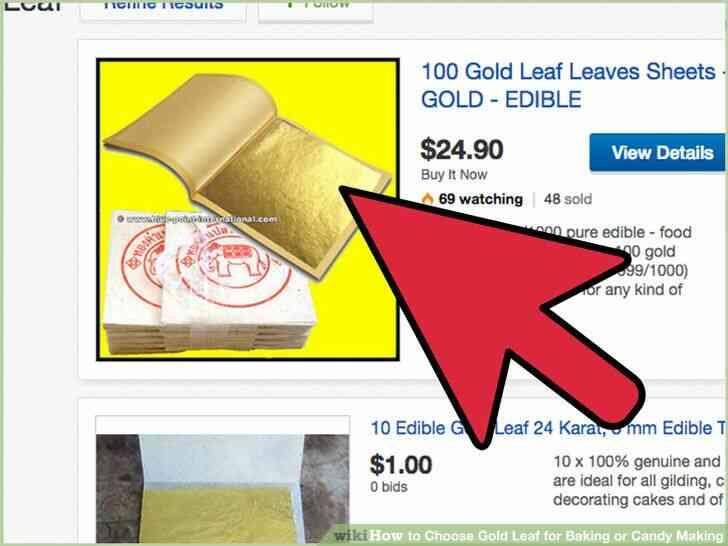 Imagen titulada Elegir la Hoja de Oro para la cocción o elaboración de Dulces Paso 2