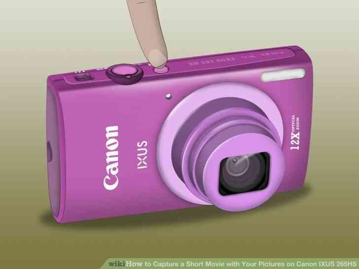 Imagen titulada la Captura de un Corto de la Película con Tus Fotos Canon IXUS 265HS Paso 1
