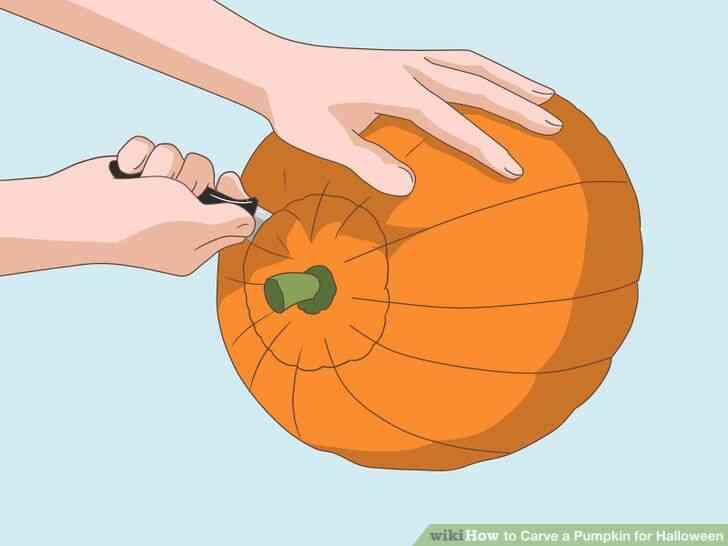Imagen titulada Tallar una Calabaza para Halloween Paso 2