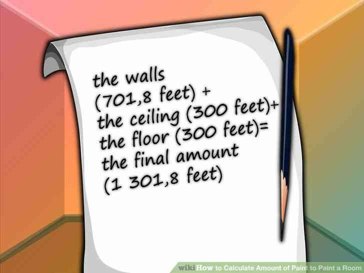 Imagen titulada Calcular la Cantidad de Pintura para pintar una Habitación Paso 9