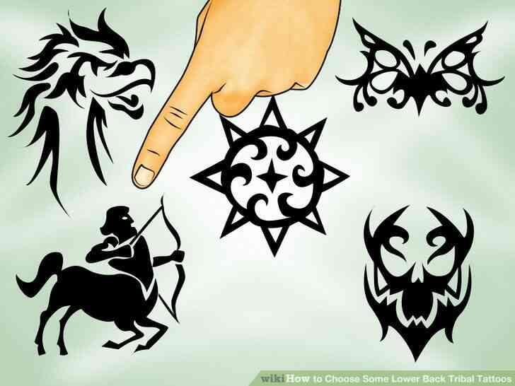 Imagen titulada Elegir Algunas Inferior de la Espalda Tatuajes Tribales Paso 2