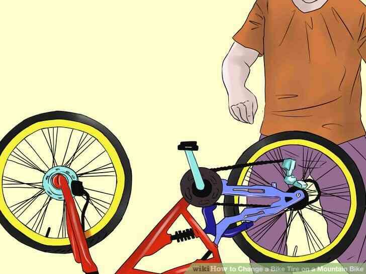 Imagen titulada Cambiar un Neumático de la Bici de la Bicicleta de Montaña Paso 1