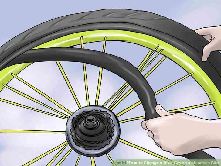 Imagen titulada Cambiar un Neumático de la Bici de la Bicicleta de Montaña Paso 9
