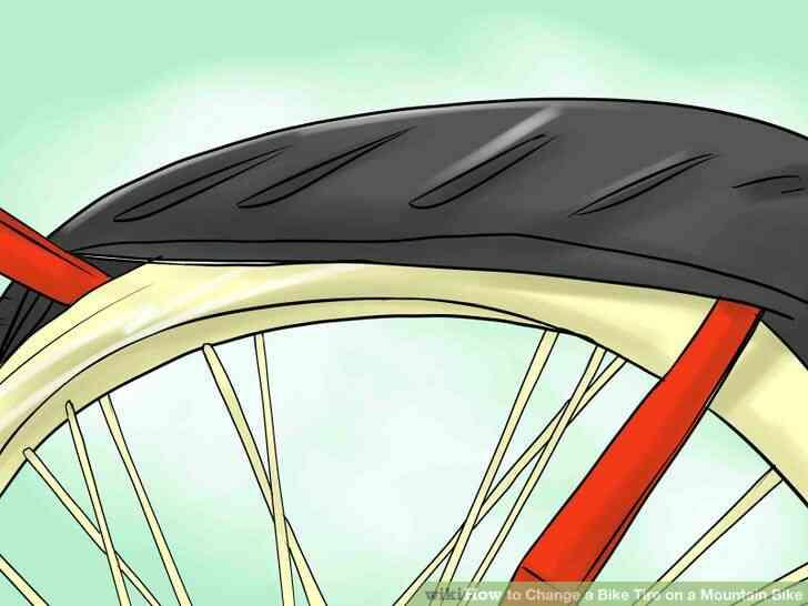 Imagen titulada Cambiar un Neumático de la Bici de la Bicicleta de Montaña Paso 3